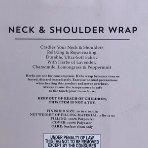 Accessories - Neck & Shoulder Wrap Heat Stress relief New